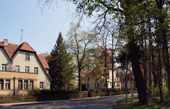 Siedlungshäuser in der Nachbarschaft