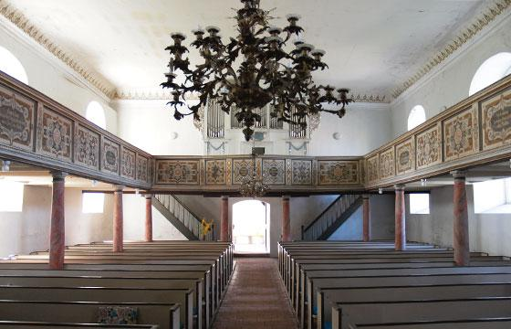 Innenraum der Kirche in Pritzerbe